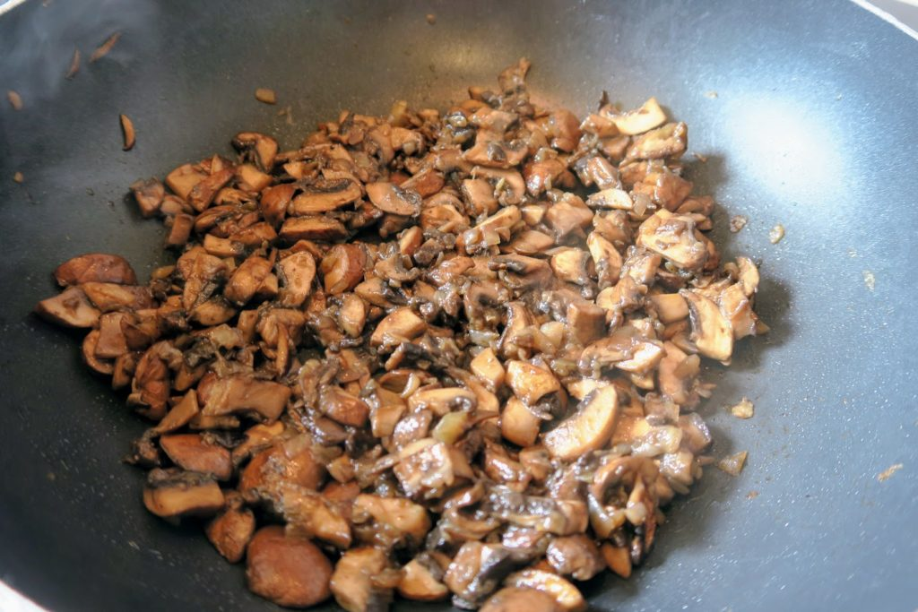 Mushrooms and onions cooked down with no liquid remaining