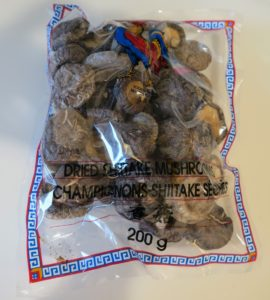 A large package of 200 grams of dried shiitake mushrooms