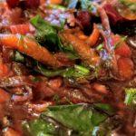 A bowl of hot borscht - beet soup