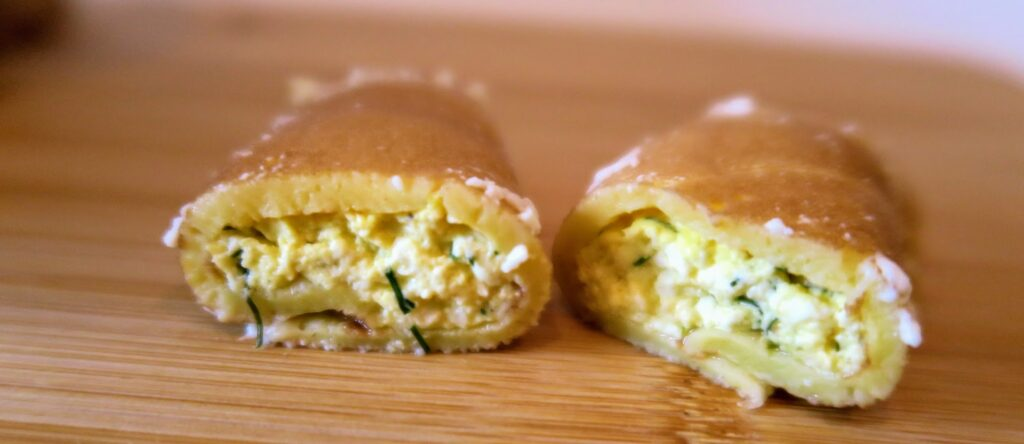 Nalysnyky with cheese and dill filling