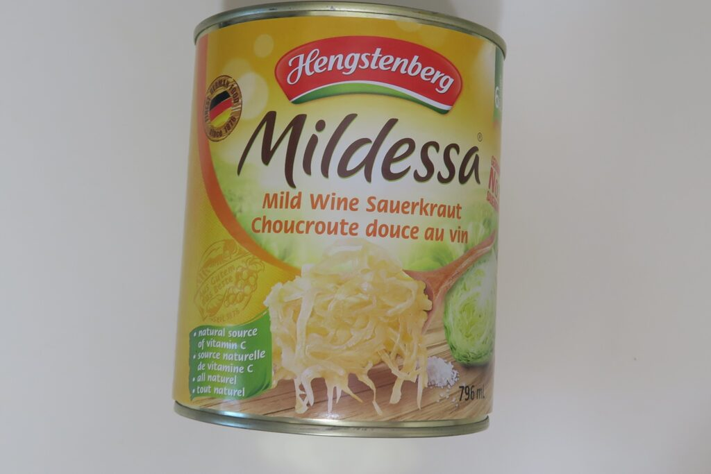 Hengstenberg Mildessa Mild Wine Sauerkraut 796ml