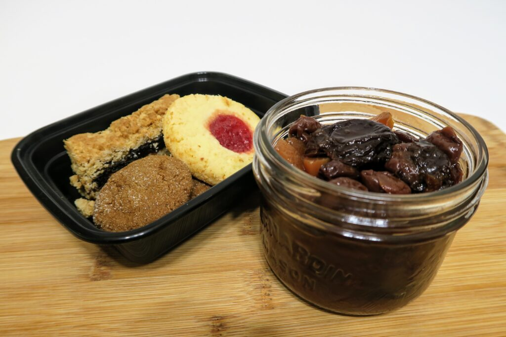 Instant Pot stewed fruit with cookies and sweets